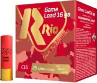 Патрон RIO Game Load C16 NEW кал. 16/70 дробь №3 (3.5 мм) навеска 28 г