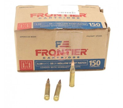 Патрон Hornady Frontier кал. 223 Rem 3,56 г 55 гр Hollow Point HP пачка 150 шт