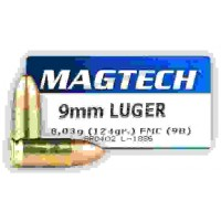 Патрон нарезной Magtech 9mm Luger FMC 8,04 гр